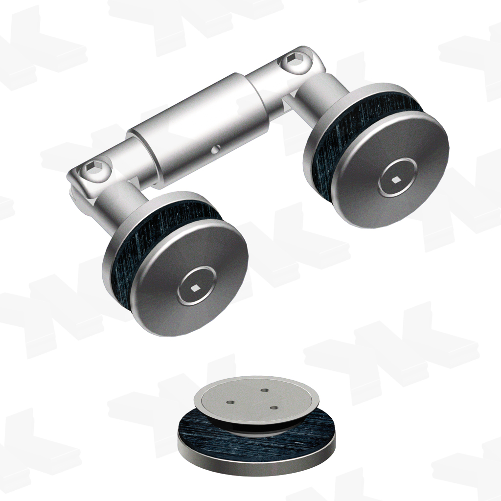 Double connection adjustable, glass socket Ø 48/38 mm