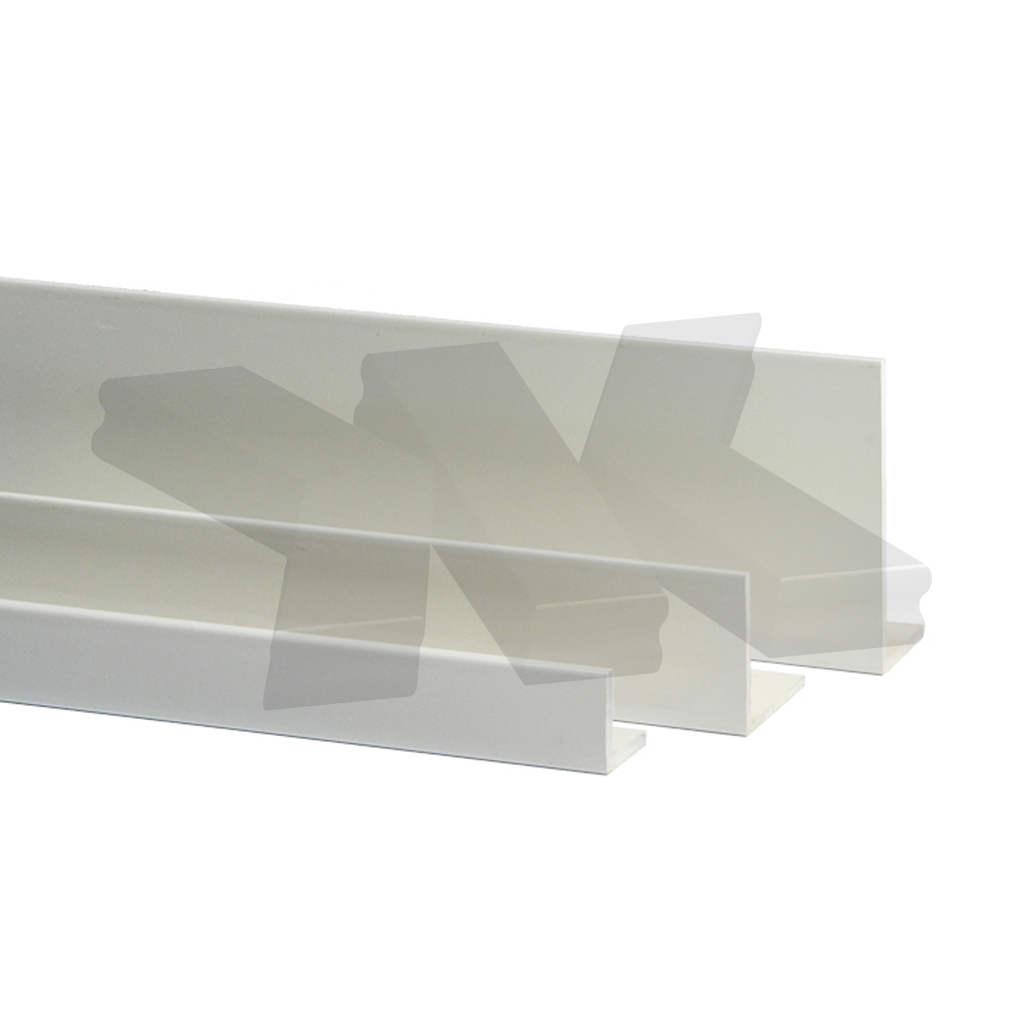 L-Profile 10x10x1mm, white