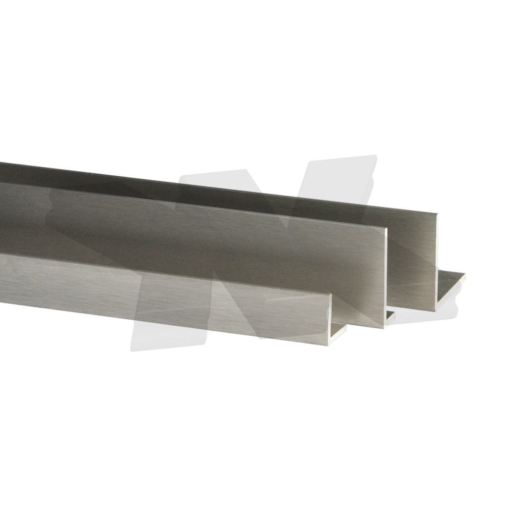 L-Profile 20x10x2mm, stainless steel effect